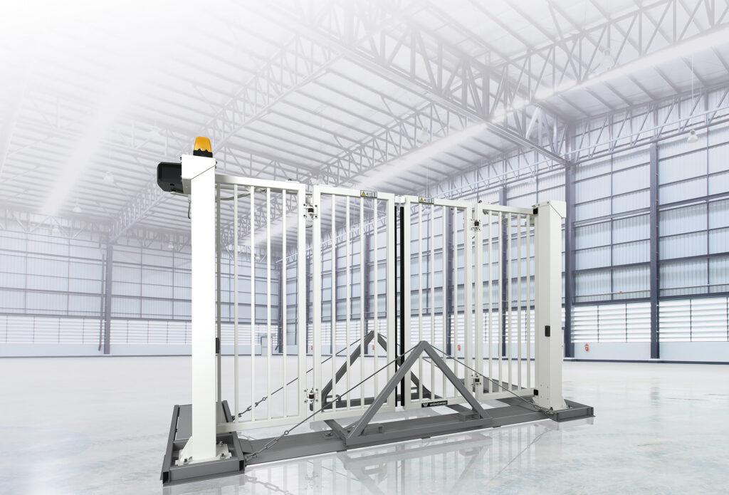 Průmyslová skládací brána / vrata TRAFFIC Nokov